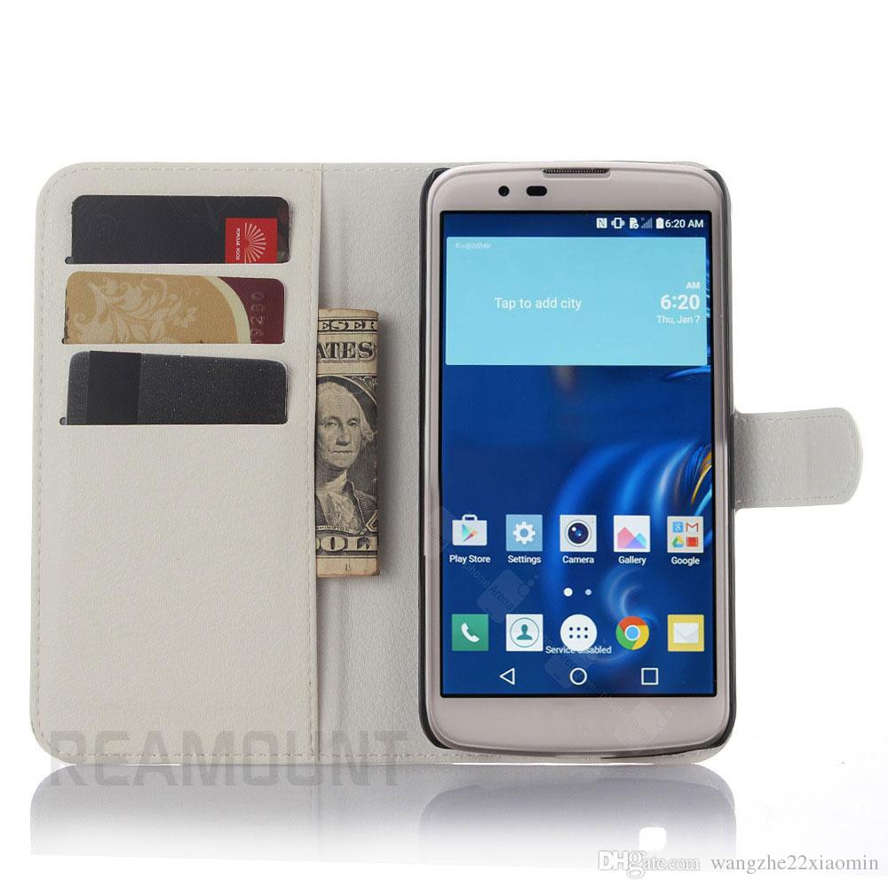 Fashion Flip Cover Wallet Cases TPU+ PU Leather Cover Cases for LG L70 L80 L90 with Card Slot Cover Case