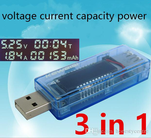 8 in1 QC2.0 3.0 USB tester Digital voltmeter current voltage Capacity temperature meter energy power bank charger indicator detector