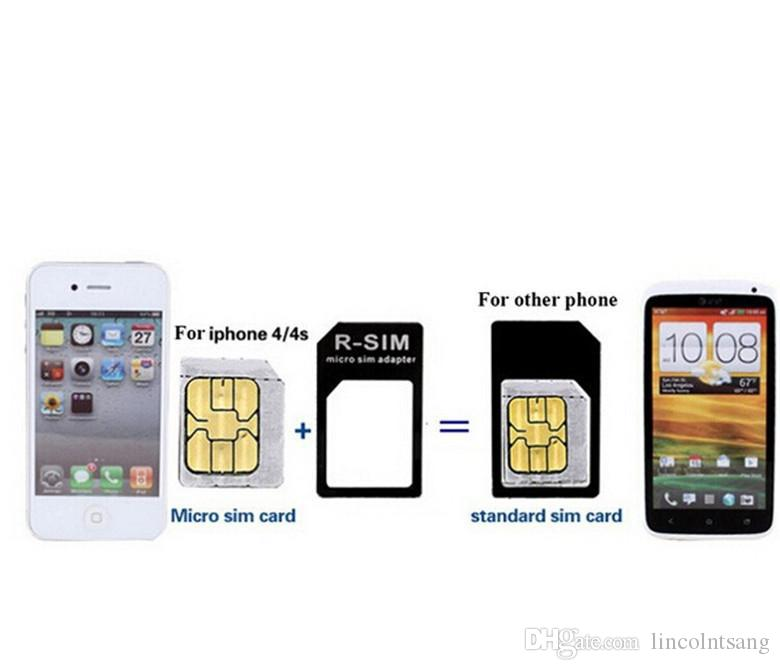 4 in 1 Noosy Nano Sim Card Adapter Sets Micro Standard Sim Card Tools SIM Card Pin Android&Iphone With Retail Box