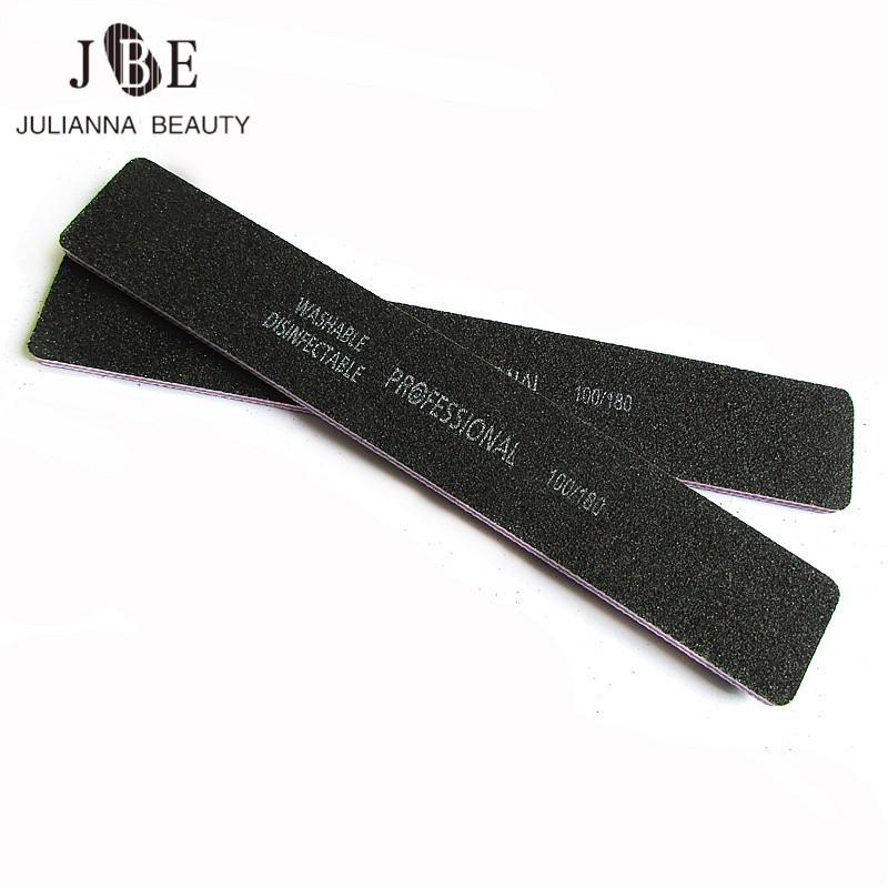 Wholesale Thick Black Nail File 100/180 Cuticle Emery Board Black ...