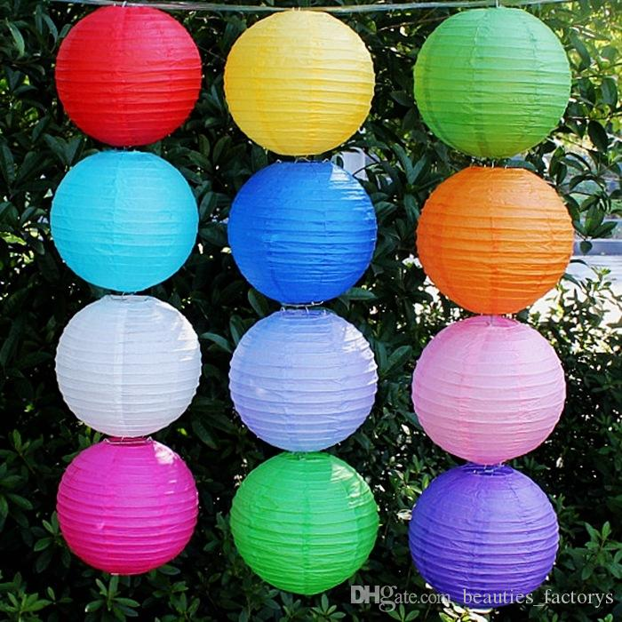 10inch Chinese Paper Lanterns Wedding Decoration Lamps Home Party Garden Wedding Decor Multi Colors
