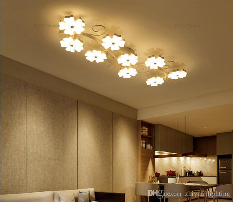 Modern led ceiling lights plum blossom Ceiling Lighting Fixtures bedroom  light flush mount ceiling lights creative design AC85-265V