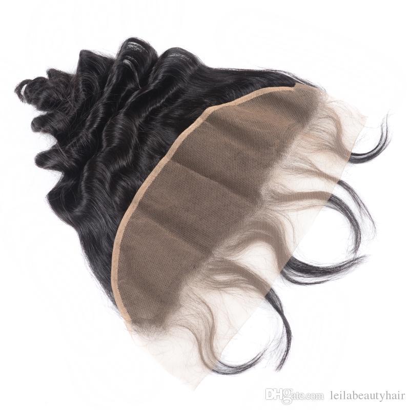 Малайзийские дешевые наращивания волос для девственных волос девственницы свободные волны с кружевной лобной 13 х 4 закрытие волос уцингируют с фронтальными 4 шт. / Лот