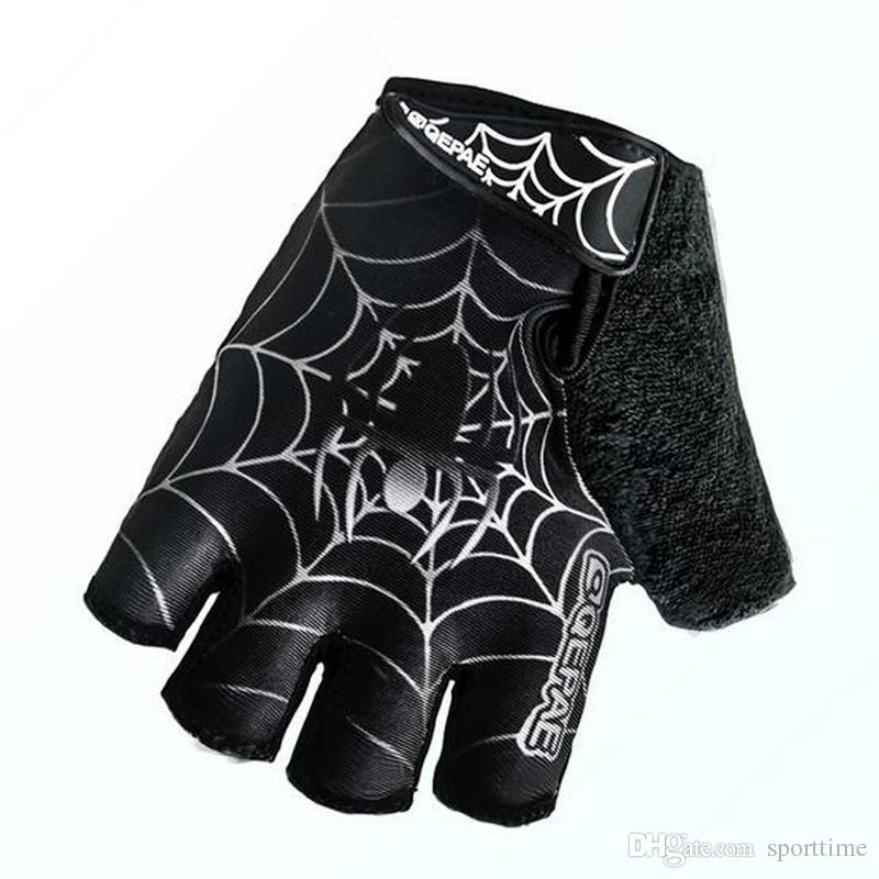 Freies Verschiffen-Gebirgsfahrrad-Kurzschluss-Finger-Handschuh-Sommer-Fahrrad-halb-Finger-Handschuhe Berufsaußensport-Halbfinger-Reithandschuhe