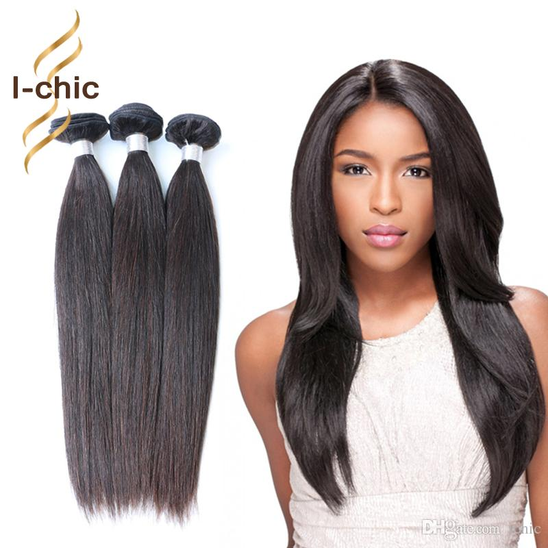 7a Unprocessed Brazilian Virgin Hair Straight Human Hair Extensions