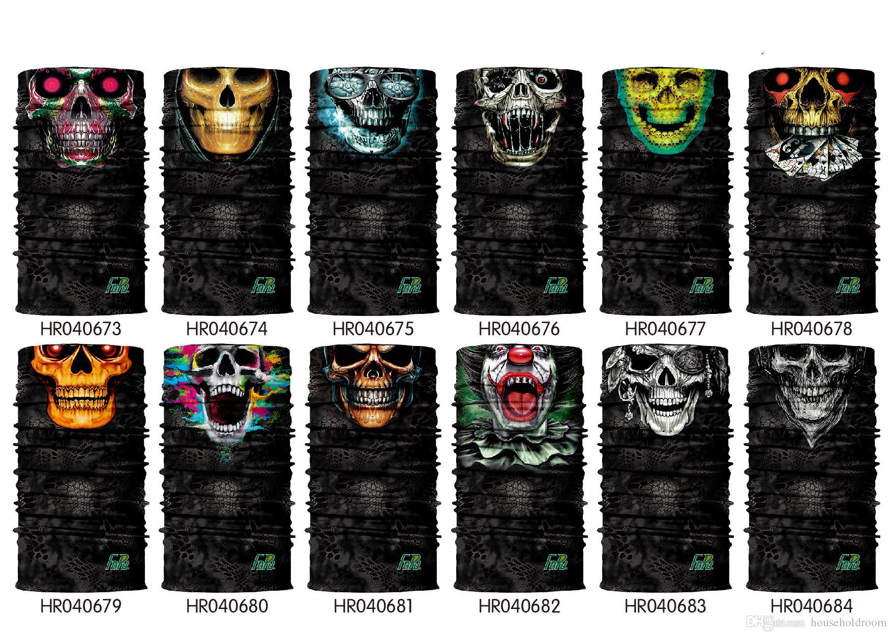 Design Skull Multi Function Bandana Ski Sport Motard Écharpe Masques visage extérieur masque facial Bandeau Neck Gaiter