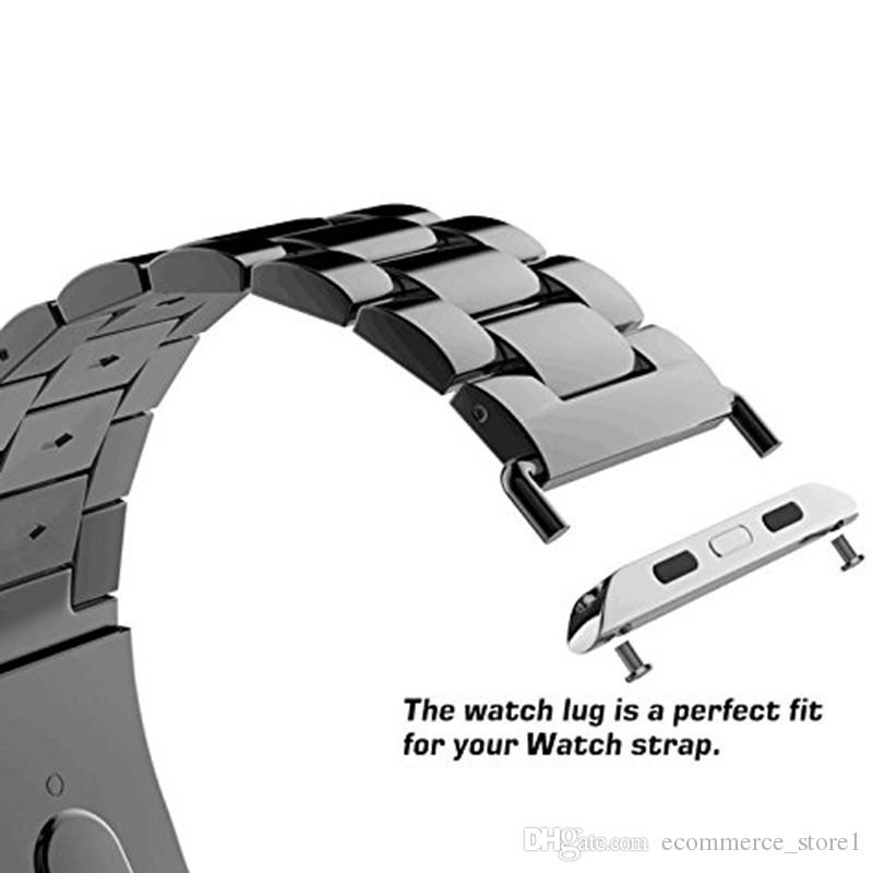 =For Apple Watch Adapter 42mm 38mm with Screwdriver Stainless Metal Connector Clasp Watch Band for iwatch Adaptor