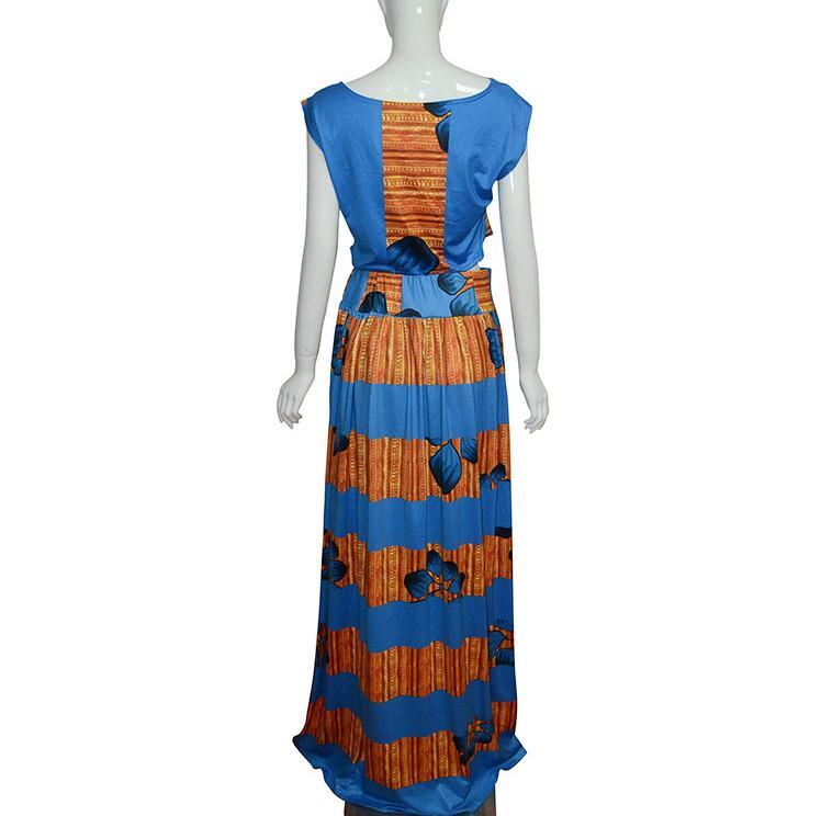 Robe formelle deux pièces ensemble traditionnel africain Dashiki Long gilet sans manches tops skinny pantalon cocktail soirée soirée robes maxi Clubwear