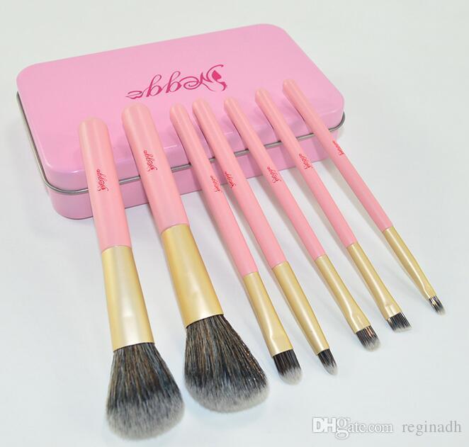 Großhandel Professional Pink Zinn 7 Make Up Pinsel Set Anfänger