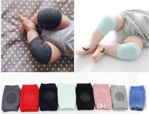 wholesale 2017 Baby Socks Soft Kids Anti-slip Elbow Cushion Crawling Knee Pad Infant Toddler Baby Safe Baby Leggings Crawling SOCKS