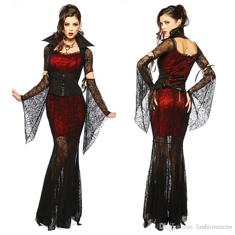 gothic sexy costume halloween dress costume sexy witch vampire costume women masquerade party cosplay clothing set halloween costumes for teams halloween