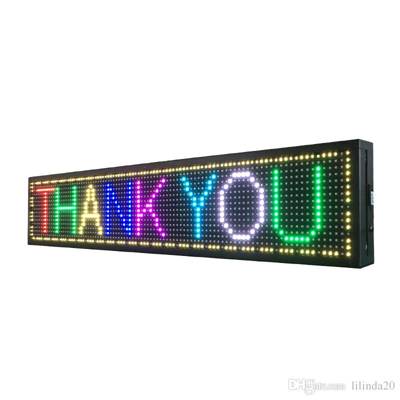 P10 outdoor LED display USB programmable full color text running message board electronic led sign board