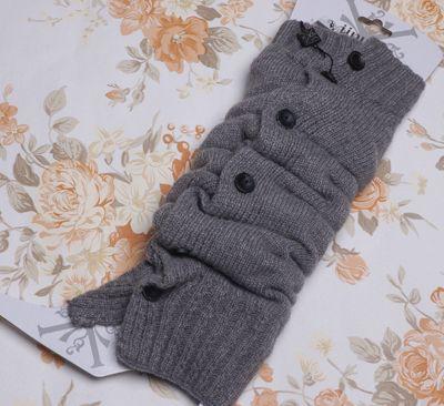 Boutons tricotés avec bretelles femmes, serré es / mélangé # 2358
