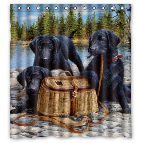 2018 Labrador Retriever Dog Design Shower Curtain Size 165x180 Cm Custom  Waterproof Polyester Fabric Bath Shower Curtains From Littemanthree, ...