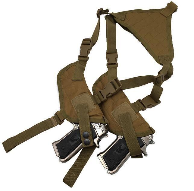 EDC Left Right Hand Tactical Nylon verstellbare Doppel verborgen unter Arm Schulter Holster Pouch für Draw Pistol Hand Gun
