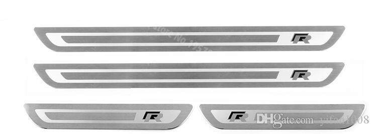 Car Accessories For VW Volkswagen Golf 6 GOLF 7 GTI R MK6 2012 2013 2014 2015 Door Sill Scuff Guards Sills Plate Stickers