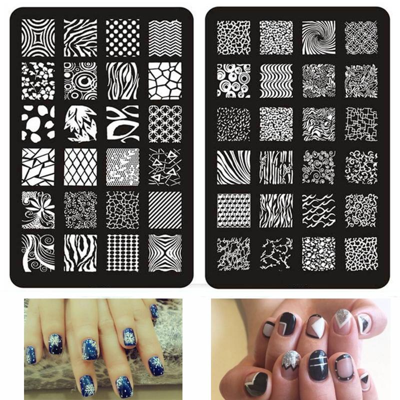New Nail Art Plate Big Plus Size 9.5*14.5cm Stamping Plates Image ...