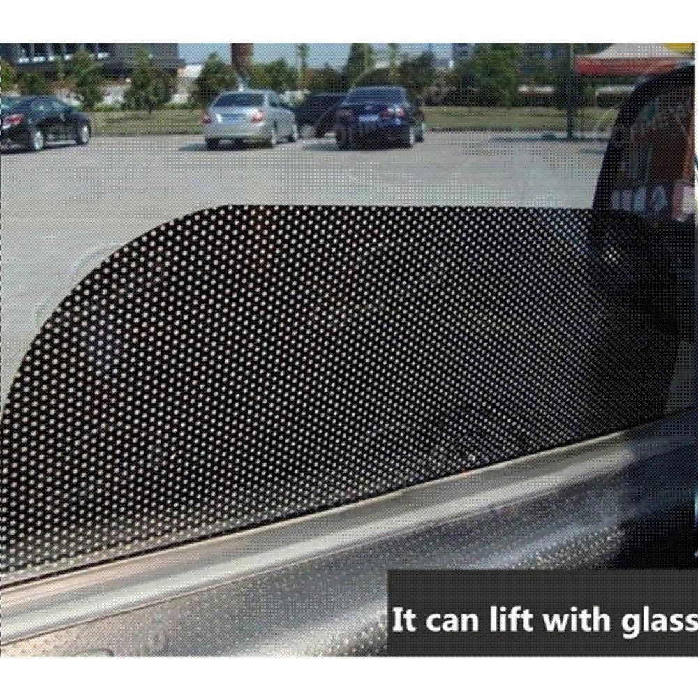 Car Accessories UV Protection Side Window Film Curtain Windshield Sticker Sun Shade Sticker Car Sticker 63cm*42cm 4pcs Per Set