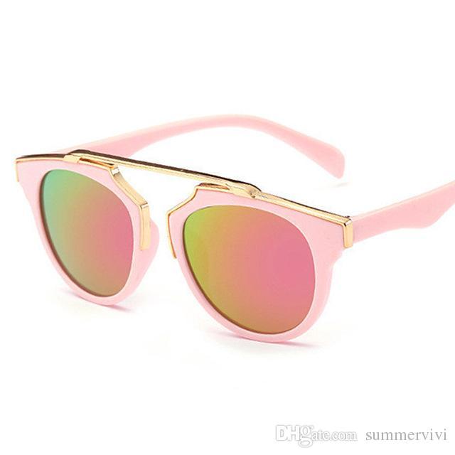 e97f0ec30b Compre Niños Gafas De Sol Vintage Niños Gafas De Sol Niños Anteojos Marco Niñas  Gafas De Sol UV400 Verano Niños Playa Sombra Accesorios T4780 A $59.28 Del  ...