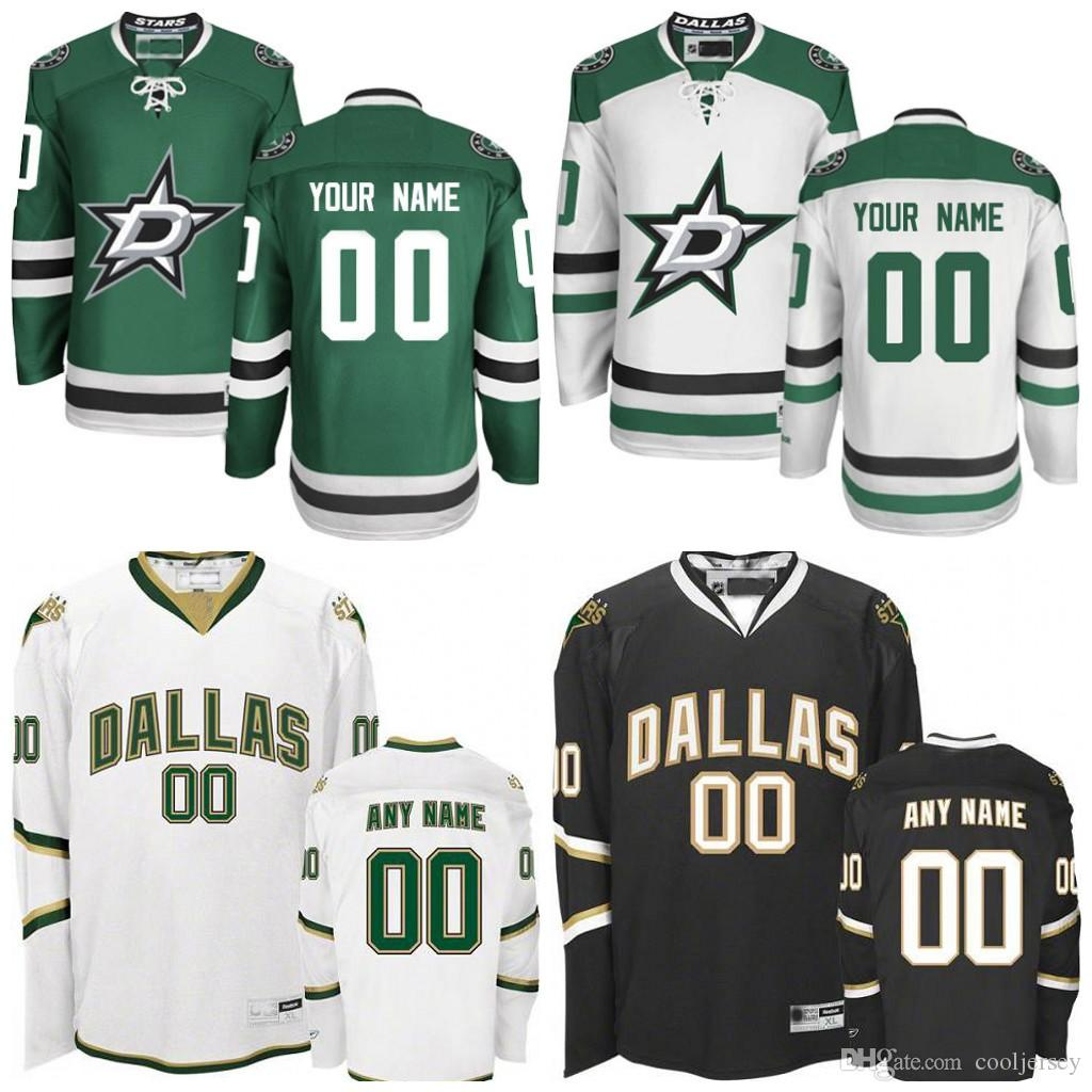 finest selection 52263 6272e Custom/Customized Men's Dallas Stars Jerseys Authentic personalized Cheap  Hockey Jerseys Any Number & Name Embroidery Logos