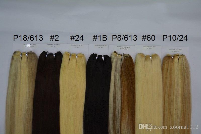 Trama dei capelli lisci 100 Estensioni capelli umani P27 / 613 P8 / 613 P10 / 24 P18 / 613 Brasiliano Pianoforte Piano Color Body Wave Weaves Weaves 3bundles /