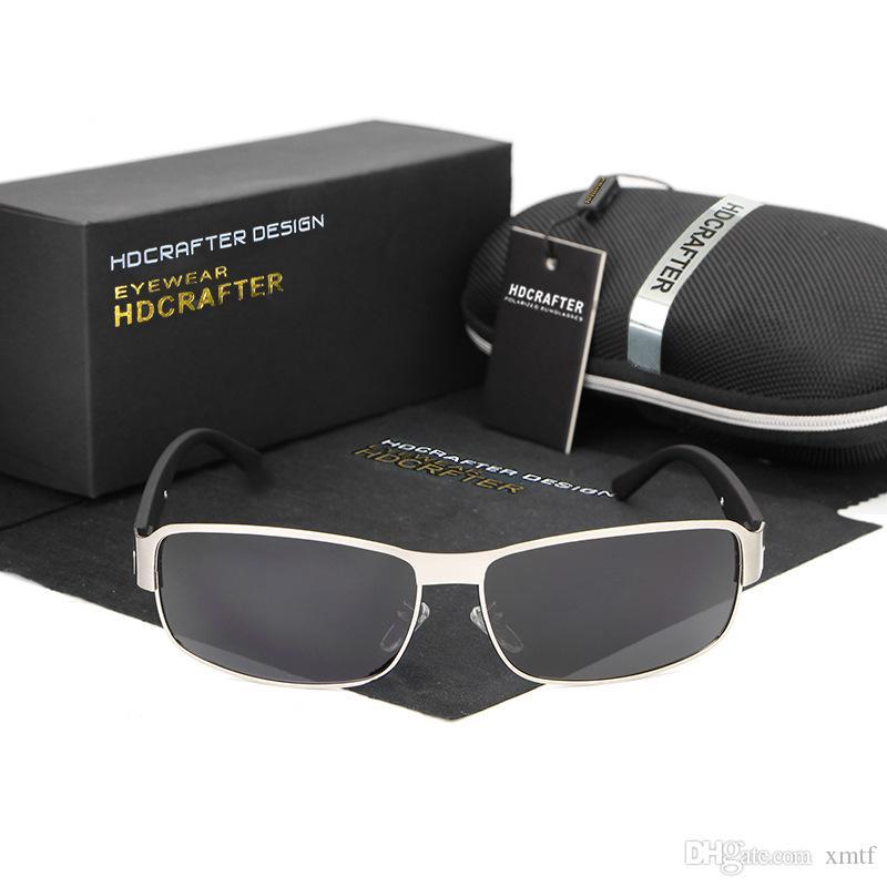 Высокое качество Марка поляризованные линзы солнцезащитные очки для мужчин черный Рыбалка вождения очки Спорт солнцезащитные очки Oculos De Sol с оригинальной коробке
