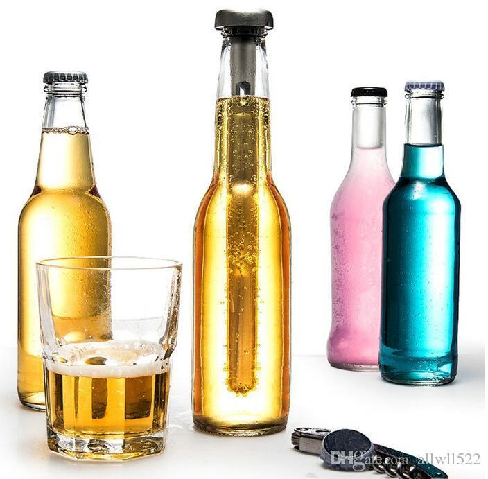 Eleganter tragbarer Whisky-Kühlvorrichtung-Edelstahl-Eis-Würfel-Eimer Barware-Wein-Ausgießer mit Kühlern stellte kalten Steingeschmack-Flaschen-Rod-Stock ein