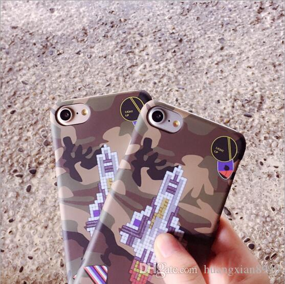for iPhone 7 Hot Brand Rocket Military Camouflage Mobile Phone Shell Case for 7 Phone Cases for iPhone7 Matte Hard shell