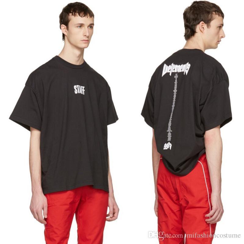 2017 summer new stylish oversize t shirt unisex vetements for Vetements basic staff t shirt