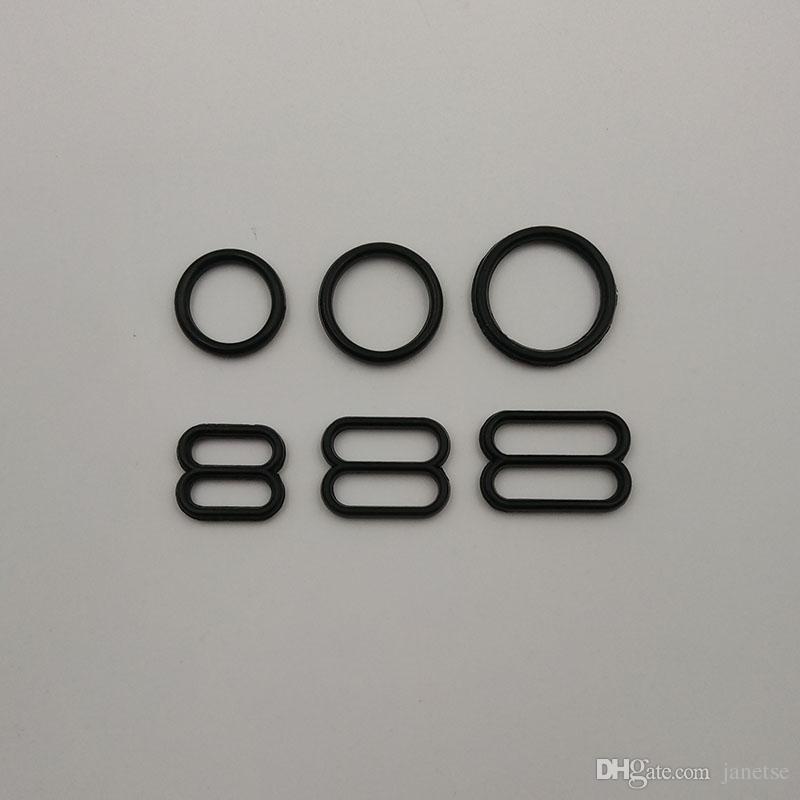 White And Black Plastic O-rings Sliders Bra Buckles Accessory Bra O ...