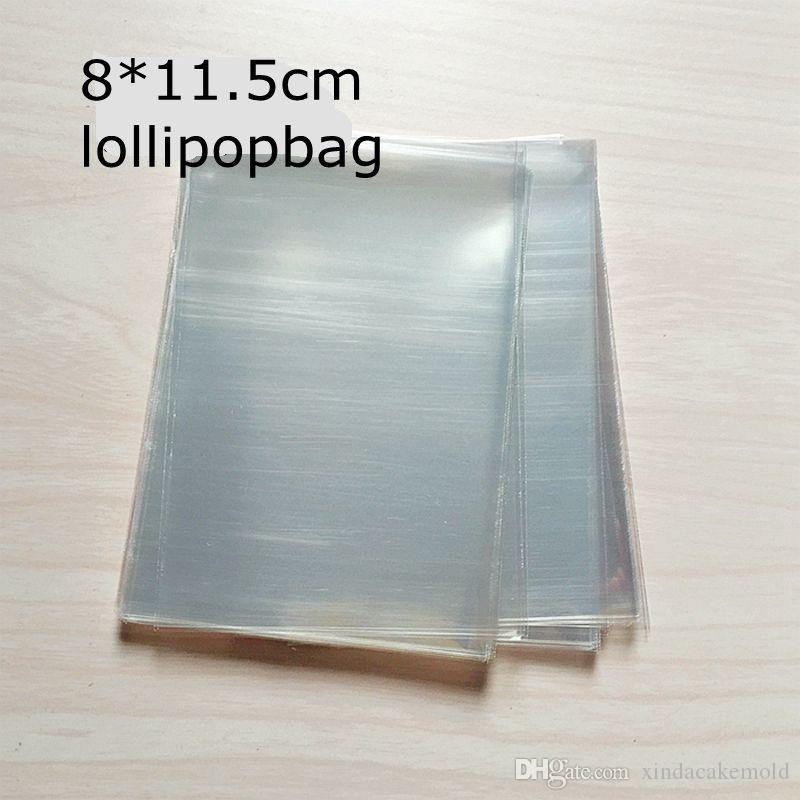 Şeffaf Plastik Lolipop Şeker Çantası Orta Gıda Sınıf Opp Paket Kılıfı Kek Çikolata Pişirme Paketi 8 * 11.5 cm 400 adet / l