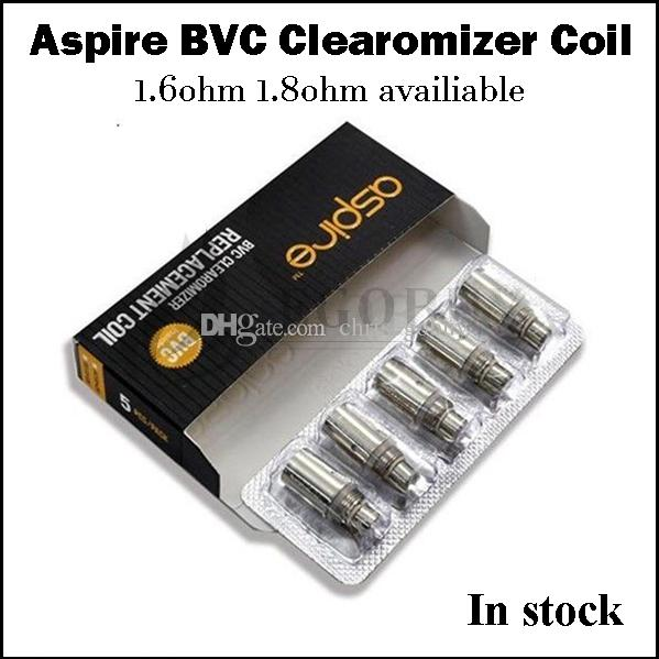 100% Original Aspire aspire bvc coils clearomizer coil heads for genuine Aspire CE5-s vivi-nova mini maxi e-pen ce5 ET-S ets glass atomizer