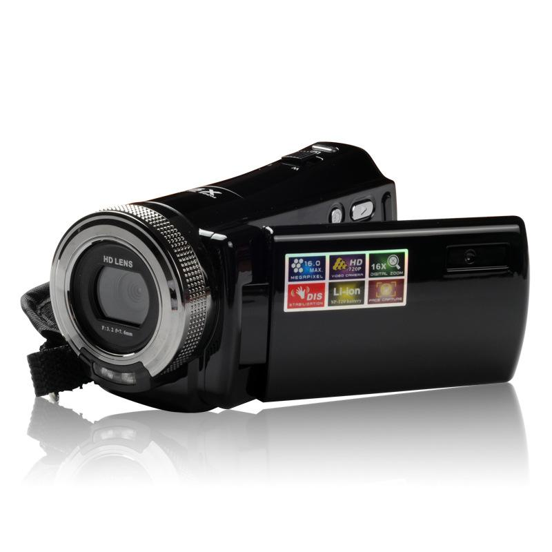 Wholesale-Professional Home Use DVC 2.7'' TFT LCD HD 720P Digital Video Camcorder 16x Zoom DV Camera HDMI Video Output HD Lens AH0009