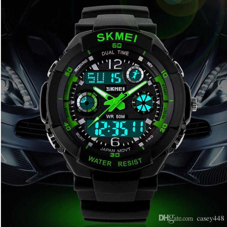 Skmei Hot Sell S SHOCK Hombre Sports Watches Men Led Digit watch Clocks LED Dive Military Wristwatches