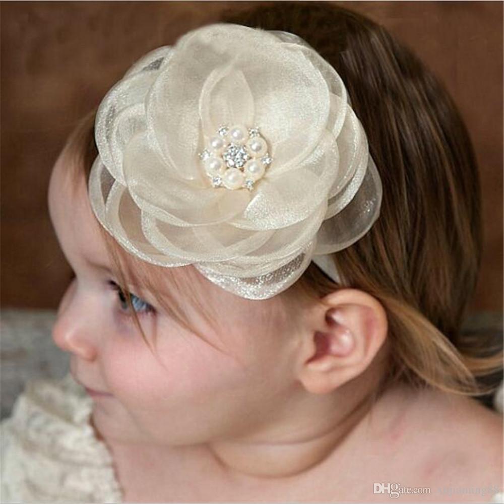 Acquista Pizzo Fiore Infantile Fascia Capelli Fiore Bianco Ragazza Hairband Copricapo  Bambini Bambino Puntelli Fotografia Newborn Baby Fasce Capelli ... b31078a0e75f