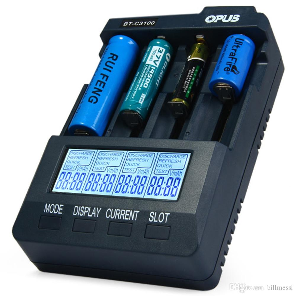 Original Opus Bt Smart Digital Intelligent 4 Slots Lcd Battery Simple Circuit Schematic Multiple Charger For Nicd And Nimh Compatible Li Ion Aa Aaa 10440 18650 Batterie New B C3100