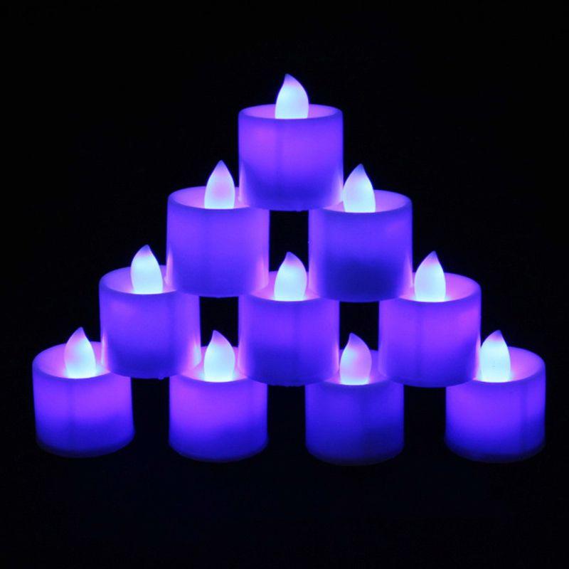 Заводские ценные огни 3.5 * 4.5см Управляемый аккумуляторным мерцами Flumment Leed LED Tealight Чайные свечи Свет Свадьба День рождения Рождественские украшения