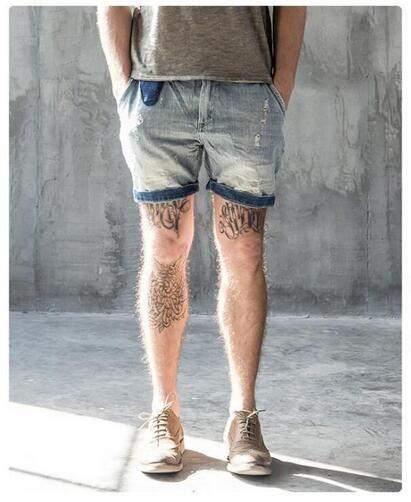 e528c9ca4c 2017 Mens Denim Shorts Fashion Summer Vintage Men's Shorts Straight Washed  Casual Jeans Shorts Bermuda Masculina