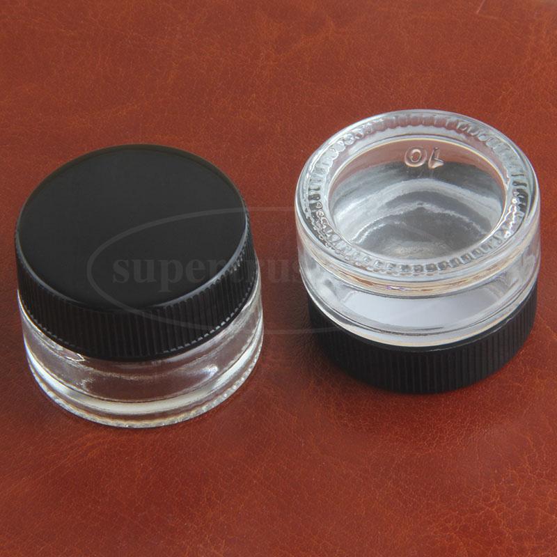 5 мл прозрачный закаленное стекло контейнер Nnbreakable Dab Jar воск масло концентрат коробка для воска Dab bho косметического хранения VS силиконовый чехол