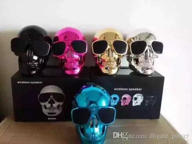 Portable Skull Bluetooth Speakers Skull Head Ghost Wireless Stereo Subwoofer Mega Bass 3D Stereo Hand-free Audio Player Mini Speaker