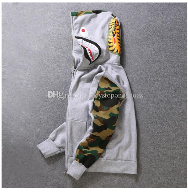 Erkek Kadın Sportwear Coat Jogger Eşofman Kazak Polar Kazak Crewneck Kuş Ovo Drake Siyah Hip Hop Stusay Hoodie Erkekler Köpekbalığı Ağız