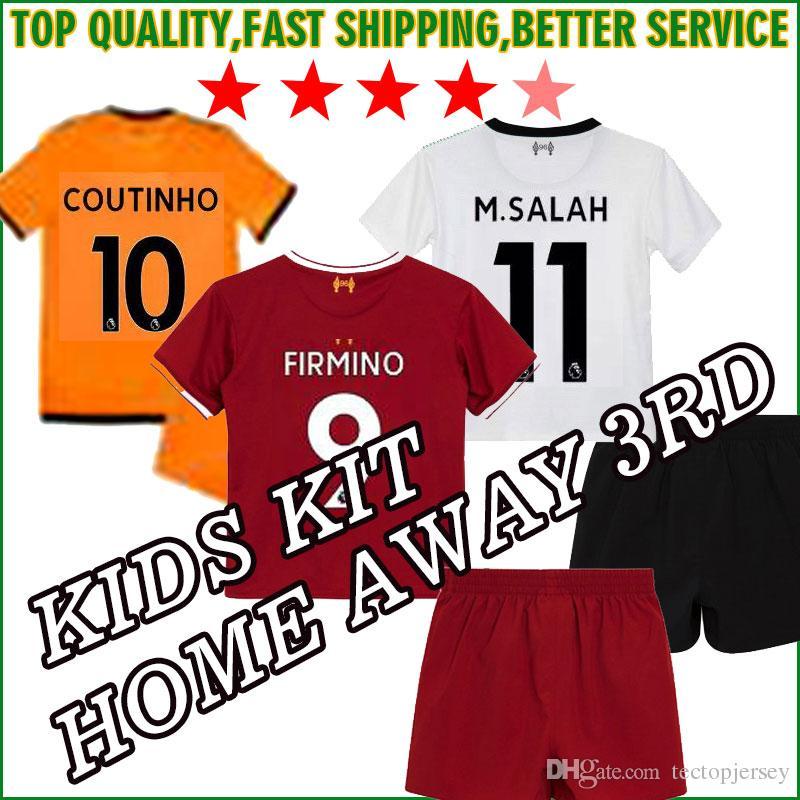 a5ac08a729b ... 17 18 Salah Gerrard Firmino Football Shirt Uniform MANE Coutinho  LALLANA Sturridge Shirt 2018 Boys Youth Child From Tectopjersey