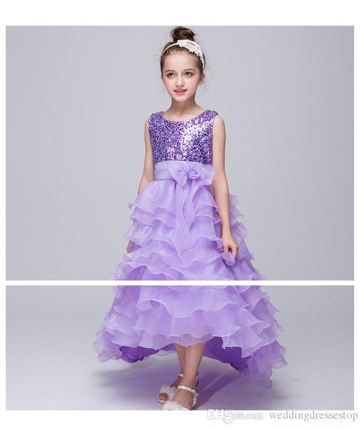 Compre Las Nuevas Muchachas Embroma Las Faldas Del Vestido Las ...