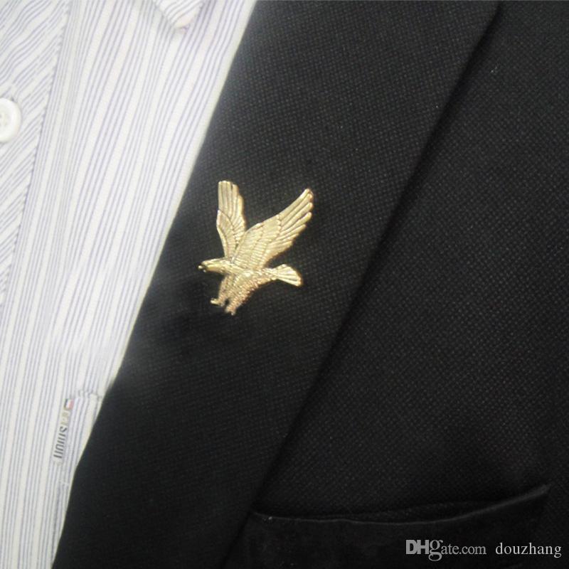 Toptan 12 Adet Unisex Kartal Gömlek Broş Pin Yaka Düğme Damızlık Broş Kadınlar Erkekler Takı