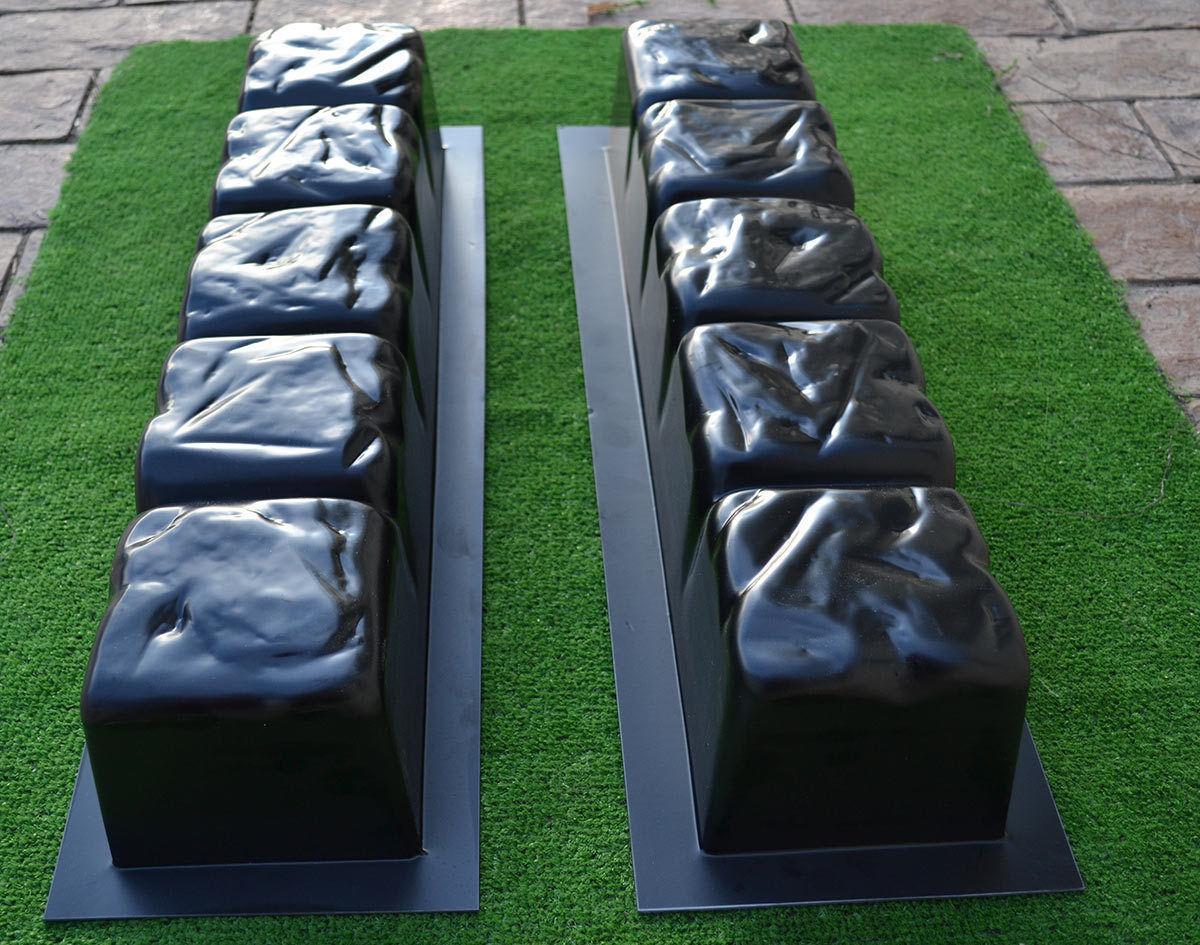 2017 bezel edge concrete molds edging border mould abs plastic
