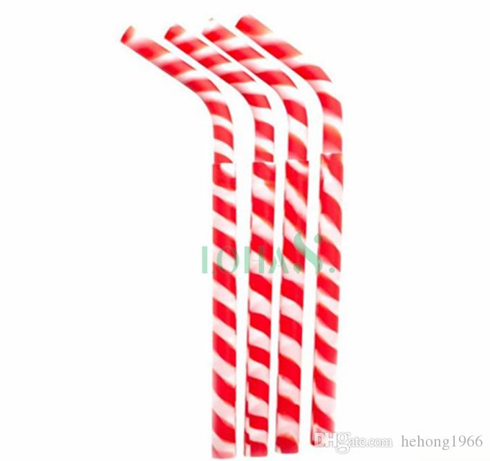 New Reuse Silicone Straws Spiral Colorful Stripe Silica Gel Drinking Straw Tasteless Safety Tubularis Soft Hose Without Hurting Mouth 3rh