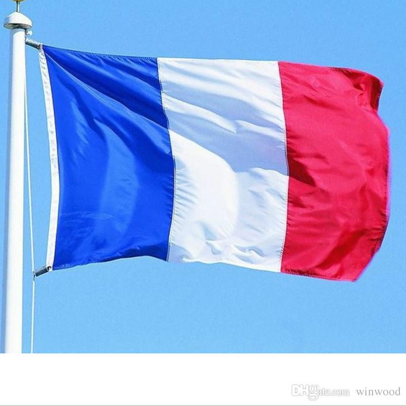 Großhandel Flagge Polyester Dekorationen Französisch Party
