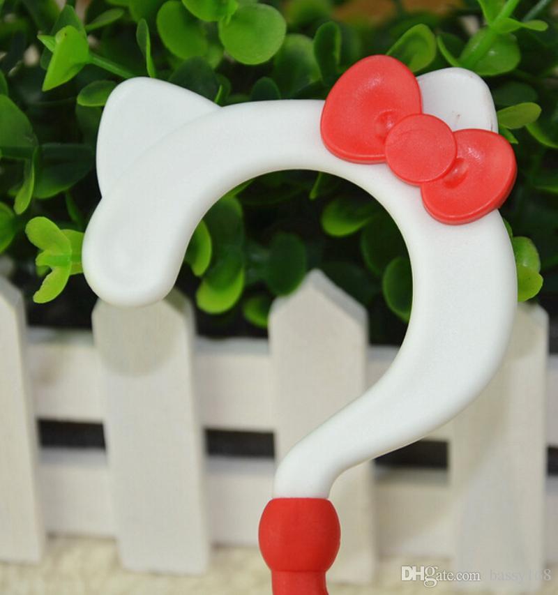 Nice Hello Kitty Cat Colorful 3D Space Children Multifunction Cartoon Plastic Clothes Hanger Anti-slip Baby Racks
