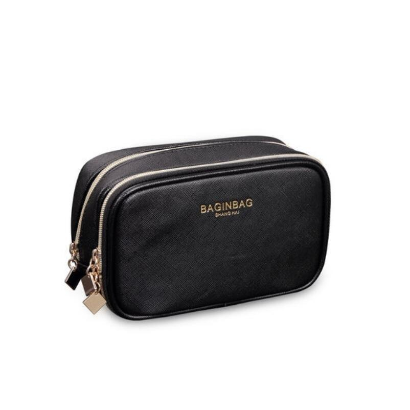 549fa48da308 2019 Wholesale Protable Cosmetic Bag With Compartments Waterproof PU  Leather Makeup Bags Double Layer Toiletry Bags Bolsa Cosmeticos From  Vanilla13