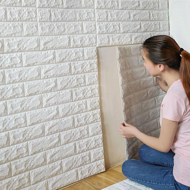 6be4bca5a Compre Atacado 70x77cm PE Espuma 3D Adesivos De Parede Safty Home Decor  Papel De Parede DIY Wall Decor Tijolo Sala De Estar Crianças Quarto Adesivo  ...
